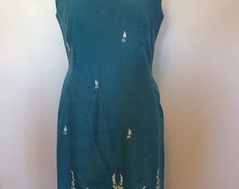 Vintage Turquoise dress - Med