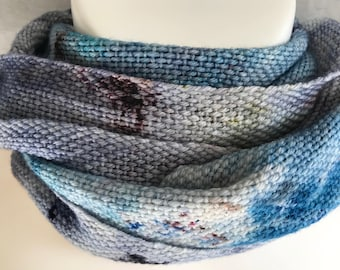 Handwoven Scarf | Blue And Grays Scarf | Hand Dyed Scarf | Soft And Luxurious | One Of A Kind | Perfect Unique Gift | Fashion Accessory