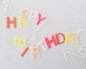 Happy Birthday Felt Letter Banner