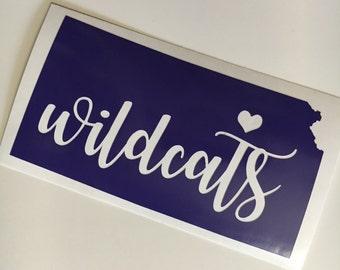 Kansas State sticker | wildcats  vinyl | K-State decal |  Royal Purple | KSU | Manhattan |  Kansas | Sticker | Yeti | Single Layer
