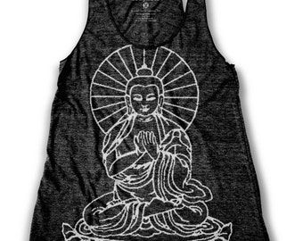 Buddha Graphic Print   Women's Racerback Tank Top
