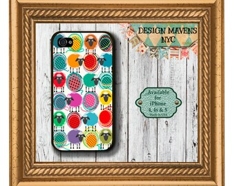 Sheep and Shout Yarn iPhone Case, Knitting iPhone Case, iPhone 8, 8 Plus, iPhone 7, 7 Plus, iPhone 6, 6s, 6 Plus, SE, iPhone 5, 5s, 5c, 4s