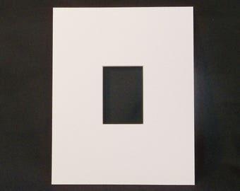 "ACEO mat - White - to fit 8"" x 10"" frame - Mat for Artist Trading Card - ATC Mat - Matte - Picture Frame Mat - Frame Matting"