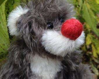 Kersen, kunstenaar teddybeer met speciale neus, 22 cm / kunstenaar bear door Susanne Mensing-Varila (Finnteddy)