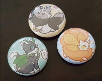 Mothcats Mascots Button (Choose 1)