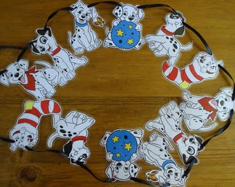 Disney 101 Dalmations style bunting. Dalmations movie.