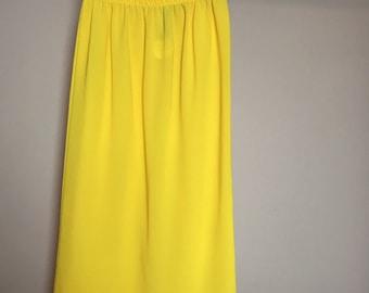Semi sheer mustard mini skirt S