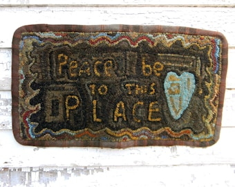 To This Place - Rug Hooking Pattern on LINEN - from Notforgotten Farm™