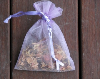 Psychic Powers Sachet, Herbs, Crystals, Metaphysical, Magical Use, Wicca, Pagan, Spiritual, Metaphysical Herbs