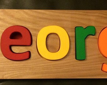 Deluxe wooden Name puzzle