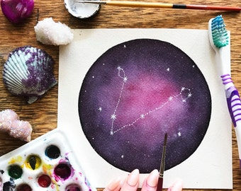 """Tiny Constellation Galaxy - Pick your own constellation (5"""" x 5"""")"""