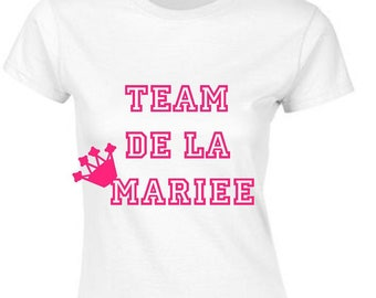Personalized team bride bachelorette party T-shirt