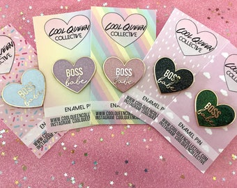 Boss Babe Heart Enamel Pin