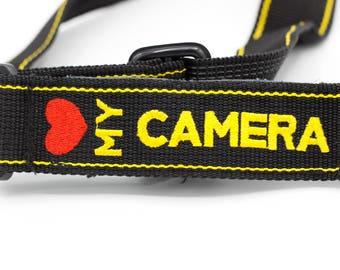 Camera Strap // 1980s // Multicolored // Heart My Camera