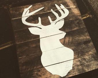 Rustic Deer Silhouette Sign