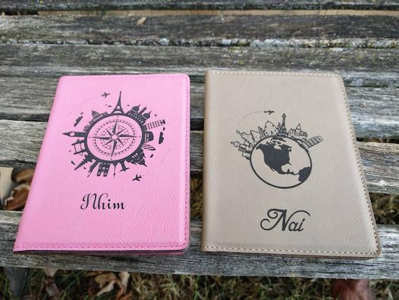 Customized Passport Cover. Leather, Laser Engraved. Travel, Wedding, Groomsmen Gift, Dad, Anniversary. Groom, Birthday, Christmas, Custom