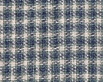 Homespun Material | Homespun Plaid | Plaid Material | Medium Hunter Plaid Material |  Sewing Material | Quilt Material | Bolt End 65 x 44