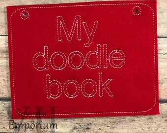 My Doodle Book Horizontal Page Machine Embroidery Design