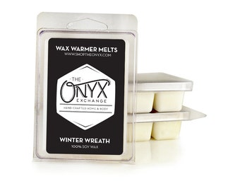 Winter Wreath - 6 Pack Soy Wax Melts - Fresh Cut Christmas Tree Scent - Holiday Wax Tarts