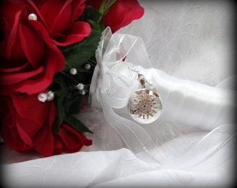 Photo Wedding Bouquet Locket - Locket for Wedding Flowers - 2 photos - for Bridal Gift
