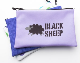 Zipper Bag, Fiber Art Geek, Black Sheep, Needle Bag