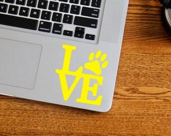 LOVE Pets, Decal, Animal Lover, Dogs, Cats, Vinyl, Laptop Decal, Laptop Vinyl, Car Decal, Window Decal, Window Vinyl