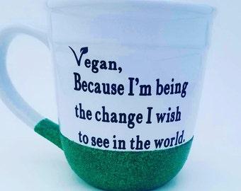 Be the Change Glitter Mug