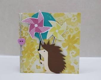 Hedgehog and ballon card