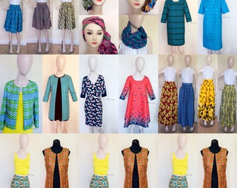 SAMPLE SALE - Ankara African Print - Dresses. Skirts. Headwraps. Blazers - From 5 Pounds!