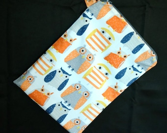 Owls Wet Bag~ Woodland, Forest, Wash/Dry, PUL, Reuseable, Swim, Baby, Travel, Waterproof Bag, Gift