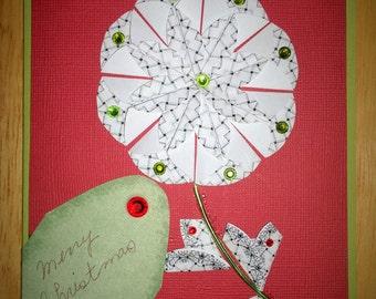Unique, embellished, Christmas card