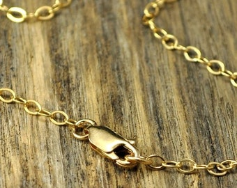 Memorial Day Sale - 26 Inch 14k Gold Fill Necklace with 14k Gold Fill Lobster Clasp