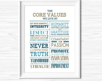 Teamwork Quotes for Office Inspirational Office Wall Art Motivational Wall Decor Printable Office Decor Core Values Quote Cubicle Decor