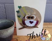 Owl Greeting Card Blank, ...