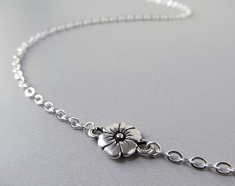 Silver Eyeglass Necklace - Antique Silver Flowers - Reading Glasses Chain - Eye Glass Chain - Chain for Glasses - For Women