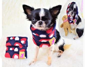 "PETiRO "" Be Mine"" fleece snood for dog 