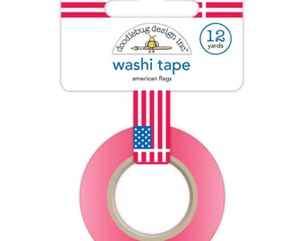 Doodlebug   Yankee Doodle Collection   Washi Tape   American Flags