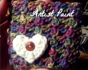 Crochet Heart Coffee/Tea Mug Cozy