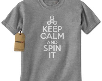 Keep Calm And Spin It Mens T-shirt