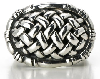 Vintage John Hardy Bamboo Ring in Sterling Silver Size 7.75