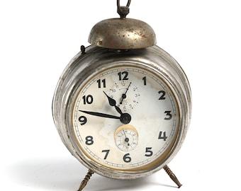Vintage mechanical Alarm Clock, Antique German Non working Clock, Retro Alarm Clock, Antique German Alarm Clock