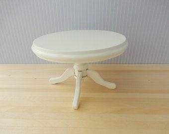 Dollhouse Miniature white round Table 1/12 Scale