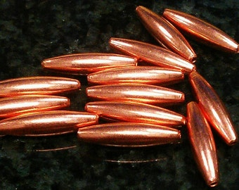 5 x 19 mm Oval Solid Copper Beads. Made in the USA.