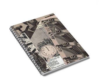 Writing Journal Spiral Notebook Journal Lined Paper Notebook For School Blank Notebook Spiral Collage Art