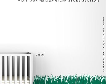 Grass Wall Decal by LittleLion Studio