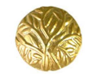 Handmade 24 K Gold Vermeil Bali Stamped Round Bead - 2 pcs.