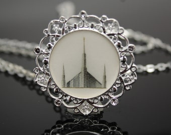 Clearance Sale!! Boise Temple necklace, pendant, locket or key chain. FREE SHIPPING!!!