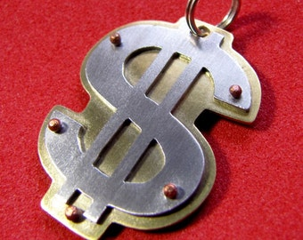 Dollar Sign tag, your information on back