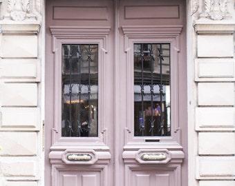 Paris Photography - Mauve Door on Rue Condorcet, Architecture Photography, Travel Fine Art Photograph, French Home Decor, Large Wall Art