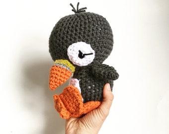 Puffin. Stuffed Animal Puffin. Baby toy. Baby puffin. Puffin amigurumi.